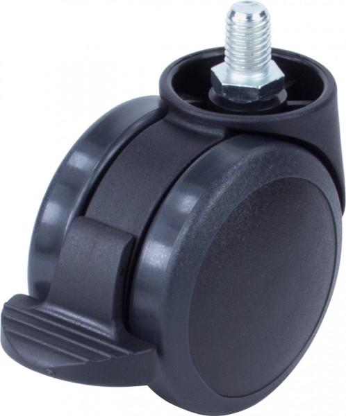 DKFD 38-600 / weiche Räder für harte Böden / mit Feststeller / Ø 60 mm