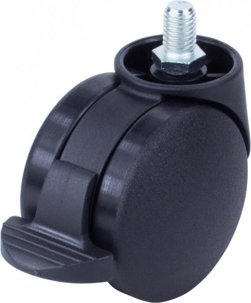 DKF 38-600 / harte Räder für weiche Böden / mit Feststeller / Ø 60 mm