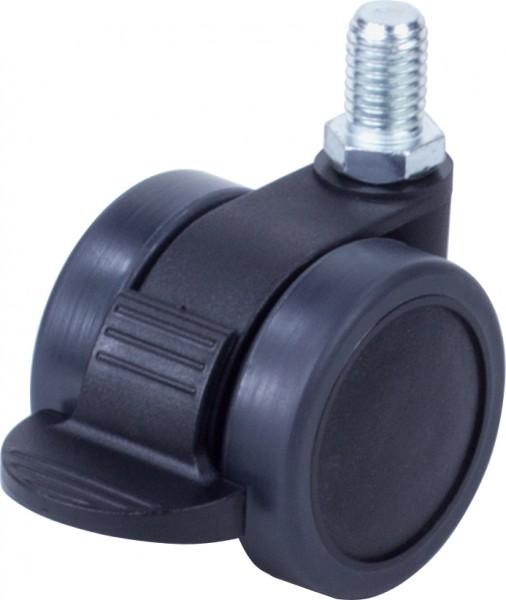 DKFD 420-43 / weiche Räder für harte Böden / mit Feststeller / Ø 42 mm