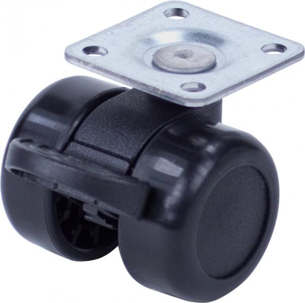 DKF 360-37 / harte Räder für weiche Böden / mit Feststeller / Ø 36 mm