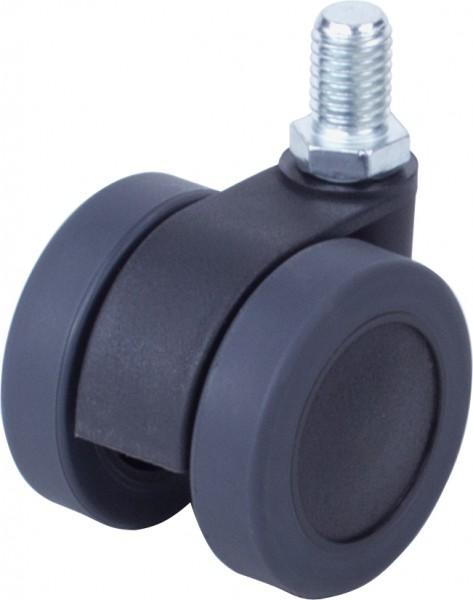 DKD 420-43 / weiche Räder für harte Böden / ohne Feststeller / Ø 42 mm