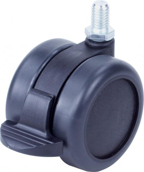 DKFD 6000-62 / weiche Räder für harte Böden / mit Feststeller / Ø 60 mm